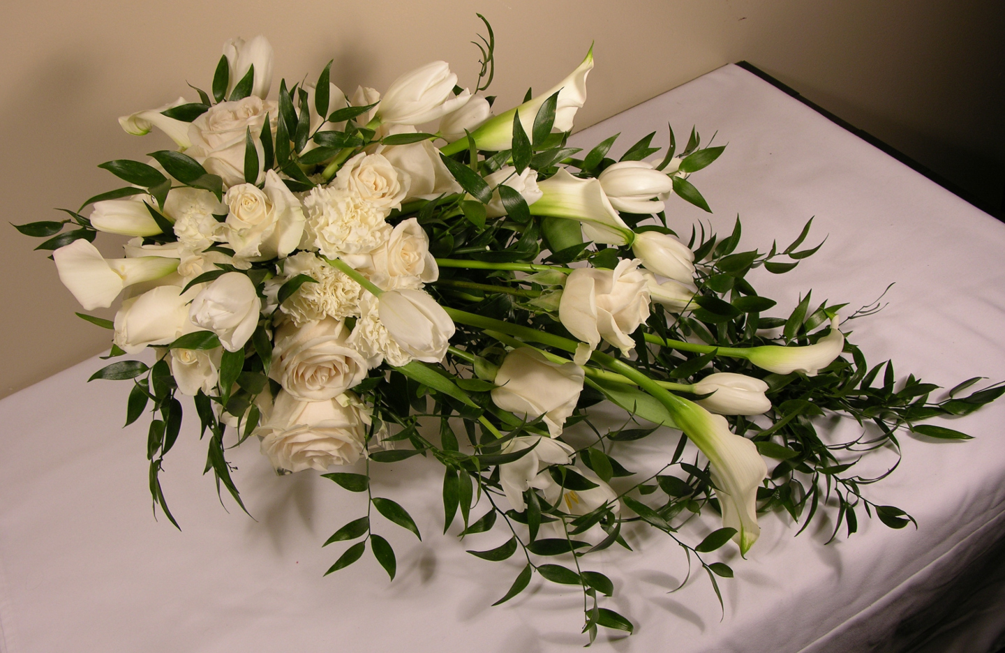 Renee S Bridal Bouquet Cascading Calla Lilies May 220