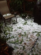 Hail covered deck