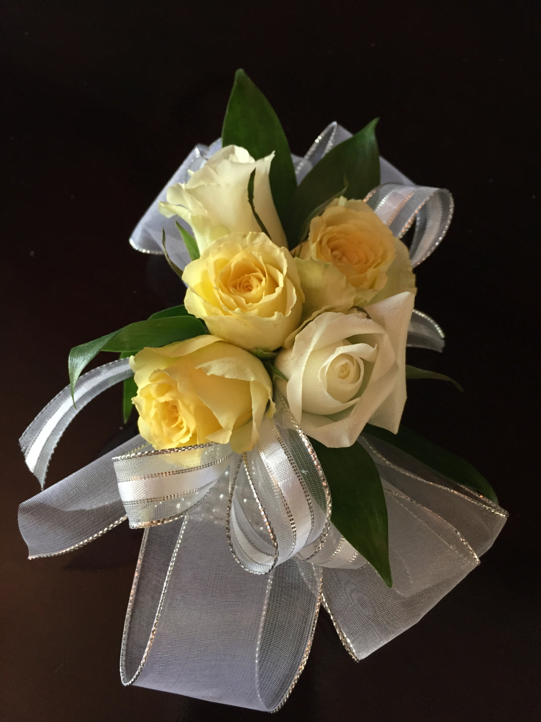 White And Yellow Corsage For Prom Boutonnieres And Corsages